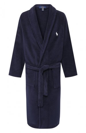 Хлопковый халат Polo Ralph Lauren. Цвет: синий