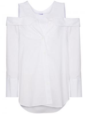 Топ с открытыми плечами SJYP. Цвет: белый