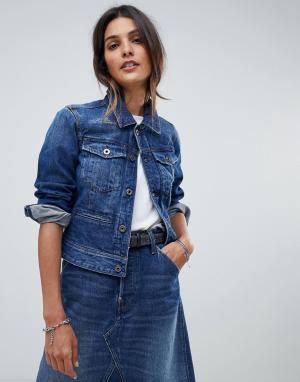 Джинсовая куртка G-Star. Цвет: синий