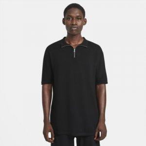 Мужская современная рубашка-поло ESC - Черный Nike