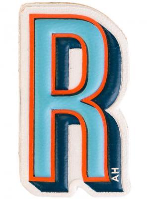 Стикер R Anya Hindmarch. Цвет: синий