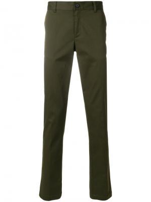 Классические приталенные брюки Givenchy. Цвет: зеленый