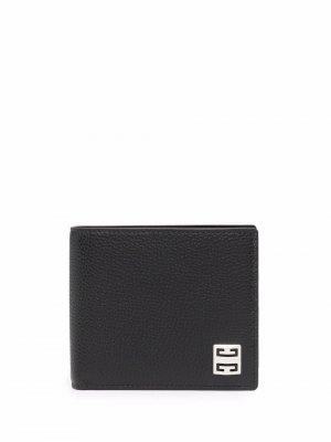Бумажник с нашивкой-логотипом 4G Givenchy. Цвет: черный