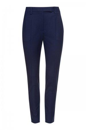 Укороченные брюки зауженного кроя VASSA&Co. Цвет: синий