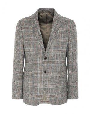 Пиджак 8 by YOOX. Цвет: серый