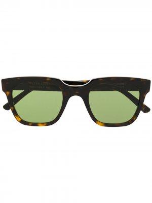 Солнцезащитные очки Giusto в квадратной оправе Retrosuperfuture. Цвет: коричневый