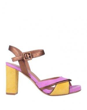 Сандалии J|D JULIE DEE. Цвет: розовато-лиловый