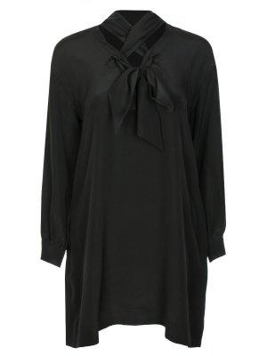 Туника шелковая Diane von Furstenberg. Цвет: черный