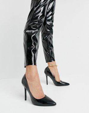 Черные лакированные туфли-лодочки -Черный Glamorous