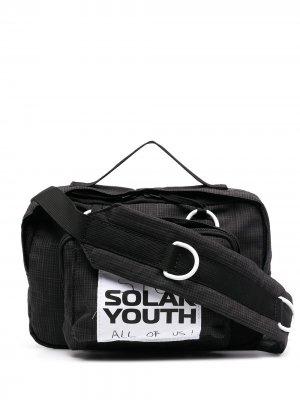 Поясная сумка с нашивкой Eastpak x Raf Simons. Цвет: черный