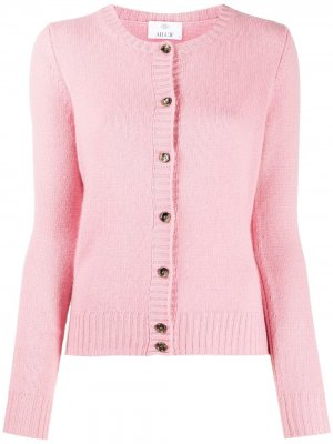 Round neck knit cardigan Allude. Цвет: розовый
