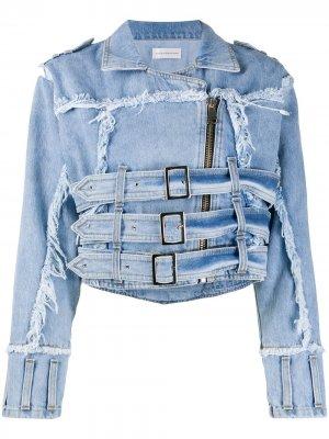 Джинсовая куртка с эффектом потертости Faith Connexion. Цвет: синий