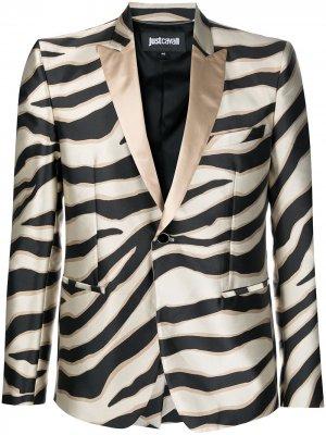 Пиджак с анималистичным принтом Just Cavalli. Цвет: нейтральные цвета
