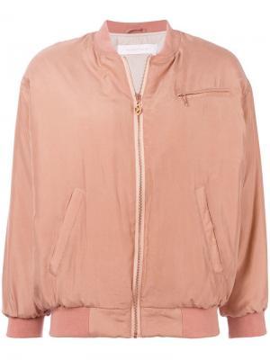 Куртка-бомбер на молнии See By Chloé. Цвет: розовый