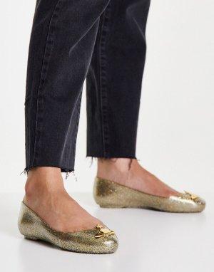 Золотистые мыльницы с блестками -Золотистый Vivienne Westwood for Melissa
