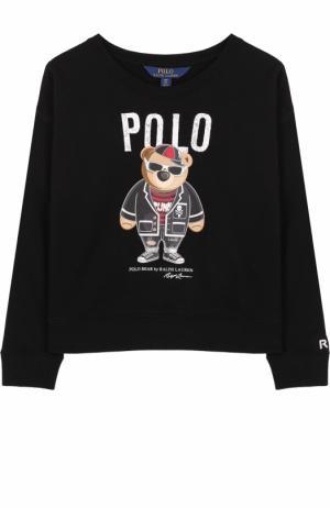 Свитшот с принтом Polo Ralph Lauren. Цвет: чёрный