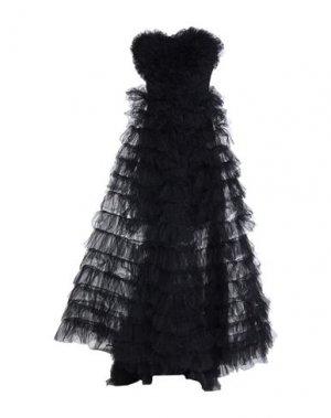 Длинное платье ANIYE BY. Цвет: черный