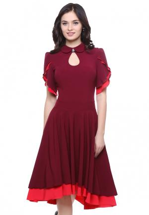 Платье Grey Cat VIOLINA. Цвет: бордовый