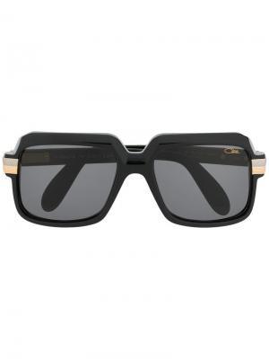 Массивные солнцезащитные очки Cazal. Цвет: черный