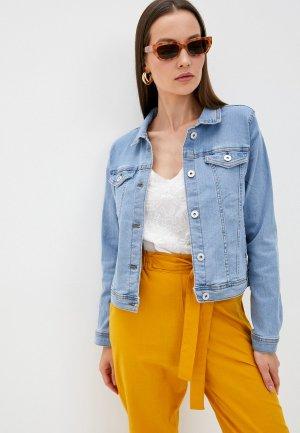 Куртка джинсовая Ichi. Цвет: голубой