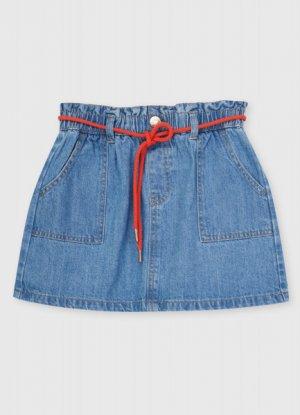 Джинсовая юбка O`Stin. Цвет: светло-синий