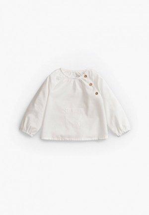 Рубашка Mango Kids ADRIA. Цвет: белый