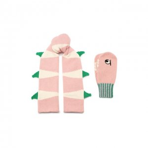 Комплект из шарфа и варежек Stella McCartney. Цвет: розовый