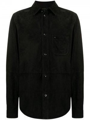 Куртка-рубашка с нагрудным карманом Stefano Ricci. Цвет: черный