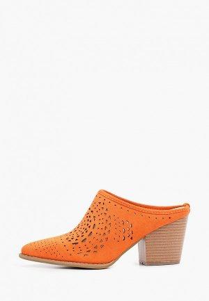 Мюли Exquily. Цвет: оранжевый