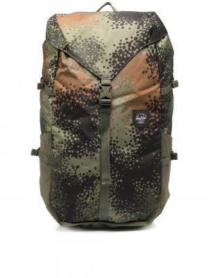 Рюкзак Barlow с камуфляжным принтом Herschel Supply Co.. Цвет: зеленый