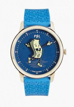 Часы Fossil LE1105. Цвет: синий