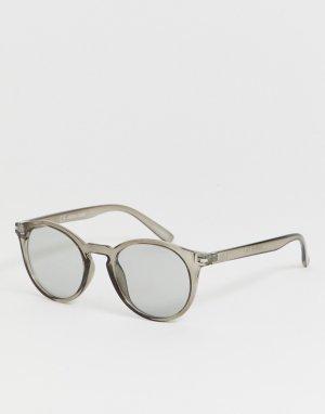Солнцезащитные очки в оправе оливкового цвета -Зеленый Jack & Jones