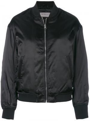 Стеганая куртка-бомбер Calvin Klein Jeans. Цвет: чёрный