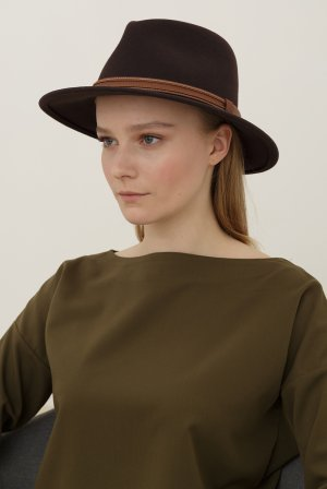 Шляпа федора BAILEY. Цвет: темно-коричневый