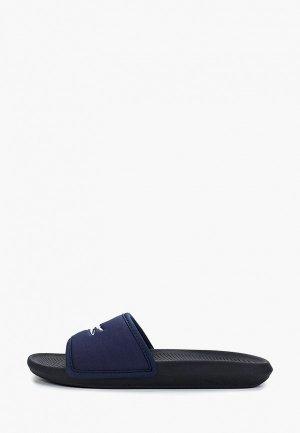Сланцы Lacoste CROCO SLIDE 119 3 CMA. Цвет: синий