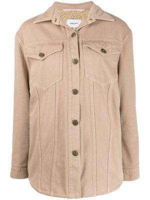 Джинсовая куртка Nanushka. Цвет: нейтральные цвета