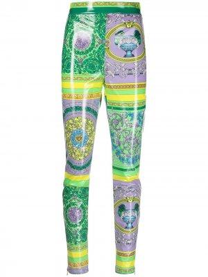 Легинсы с принтом Barocco Versace Collection. Цвет: фиолетовый