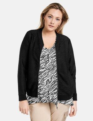 Куртка-бомбер с ребристой текстурой SAMOON Gerry Weber. Цвет: black