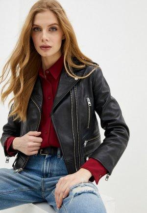 Куртка кожаная Zadig & Voltaire LENNI BUTTERFLY. Цвет: черный