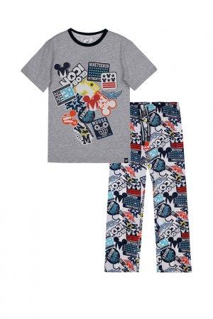 Пижама PlayToday. Цвет: серый, разноцветный