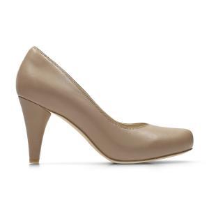 Туфли кожаные Dalia Rose CLARKS. Цвет: телесный,черный