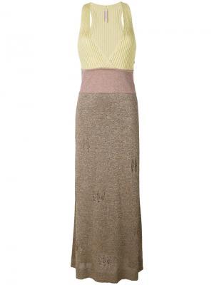 Lurex distressed knitted dress Antonio Marras