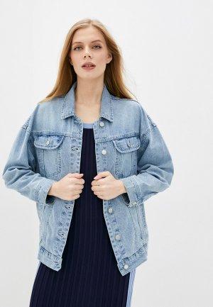 Куртка джинсовая Love Republic. Цвет: голубой
