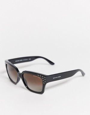 Солнцезащитные очки с заклепками 0MK2066-Черный Michael Kors