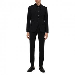 Шерстяной костюм Dsquared2. Цвет: чёрный