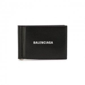 Кожаный зажим для денег Balenciaga. Цвет: чёрно-белый