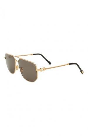 Солнцезащитные очки Fred. Цвет: золотой
