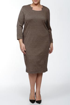 Платье Verpass. Цвет: черный, коричневый