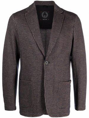 Однобортный пиджак Tonello. Цвет: коричневый