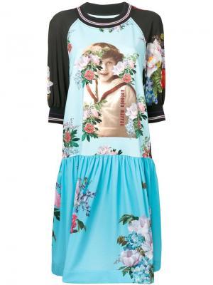 Платье со вставками и цветочным принтом Antonio Marras